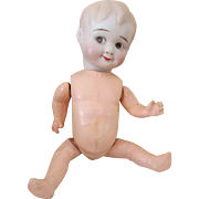 """SOLD Adorable 9"""" Bisque Head Googly Baby on a Googly Body"""