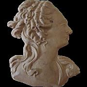 SALE PENDING Unusual Gutta Percha Figureal Head