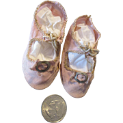 Antique Pink Cloth Shoes for Your French Fashion Doll