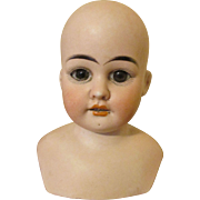 Stunning Antique Bisque Shoulder Doll Head - Made for French Market