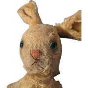 Antique Mohair Bunny - Straw Stuffed - Blue Glass Eyes