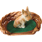 Miniature Doll House Dog with Bed