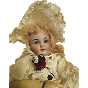 Stunning Antique Bisque Head Doll is Sensational Clothing