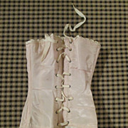 Pink Silk Doll Corset for your Bru, Jumeau or French Fashion
