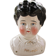 Antique China Doll Head Marked Dorothy