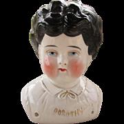 Antique China Doll Head Marked Dorothy