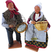 French Santon Fish Monger and His Wife