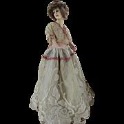 Antique French Boudoir Doll Lamp