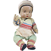 "11"" 1930's Ming Ming Baby doll by the Quan Quan Co."