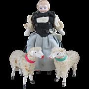 Vintage Christmas Putz Woolly Sheep