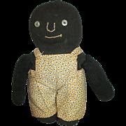 Adorable Black Cloth Folk Art Doll