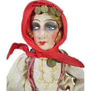 French Cloth Faced Boudoir Doll