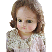 Antique Wax Over Composition Head Doll