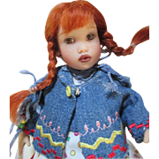 Helen Kish Pippi Long Stocking Tulah Doll - Mint in Box with Original Paperwork and Monkey