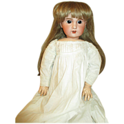 "Angelic 22"" French SFBJ Doll - Arresting Brown Eyes - Gorgeous Dress"