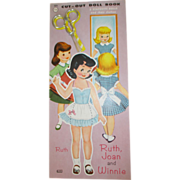 Vintage Uncut Paper Dolls - Scissors included