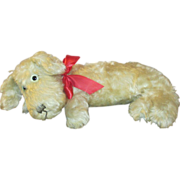 Adorable Mohair Dog - Pajama Bag - Perfect To Sit/Lay on Lap of Bisque Head Doll