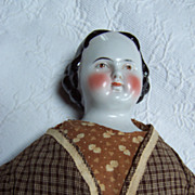 "24"" Antique Brown Eyed Greiner Style China Head Doll"
