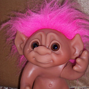 "8.5"" Thomas Dam 1977 Pink Haired Troll"