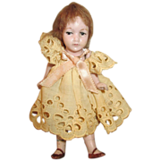 """Adorable Antique 4.75"""" All Bisque German Doll"""