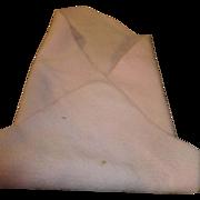 Vintage Pink Wool Blanket for Tiny Tears