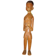 Wooden Carved Doll with Interesting Look
