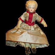 """Dear 9.5"""" Unglazed Parian Type Bisque Head Doll"""