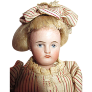 Pretty Solid Dome Closed Mouth Bisque Shoulder Head doll