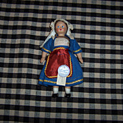 "Sweet 6"" 1960's Lenci Doll w/Original Tags & Costume"
