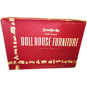 1930's Strombecker Wooden Doll House Kitchen in Original Box