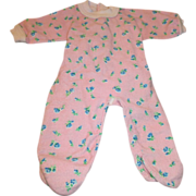 Vintage Flannel Footed Pajamas for your Dye-Dee Baby, Tiny Tears, or Vintage Baby Doll