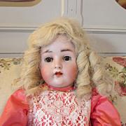 "Sweet 24"" Hertel Schwab Antique Bisque Head Doll"