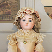 SALE - Antique French Bisque Head Bebe Gigoteur Doll