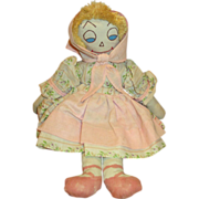 SOLD Vintage Cloth Doll with Happy Face
