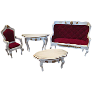 French Style Doll House Parlor Furniture - Vintage - Very Pretty