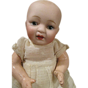 Sweet Solid Dome Bisque Head Baby on Compo Body
