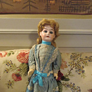 Antique Bisque Head Doll Marked 1902 in Original Outfit