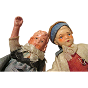 Antique Doll House Dolls - Ready to Display