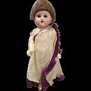 Antique German Herm Steiner Bisque Head Doll in Original Outfit