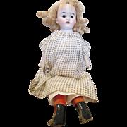 "Adorable 10.5"" Antique Bisque Shoulder Head Doll"