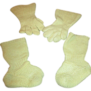 Antique Wool Gloves and Booties for Your Antique Doll