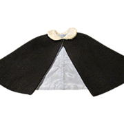 Vintage Lined Wool Cape for Your Antique Doll