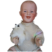 "Devilish 13"" Laughing Gebruder Heubach Baby Doll"