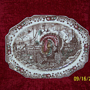 "Huge 20"" Johnson Brothers ""His Majesty"" Turkey Platter"