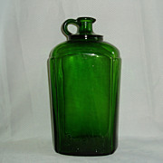 REDUCED Old green Brights pour spout wine bottle