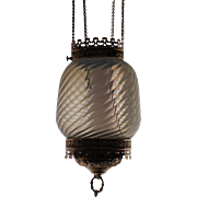 White Opalescent Oil Hall Hanging Lamp