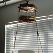 Antique hanging parlor hanging oil lamp