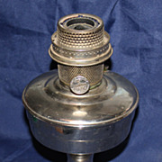 Nickel plated Aladdin oil lamp