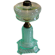 REDUCED Thousand Eye Apple Green Oil Lamp