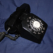 REDUCED Black Western Electric Rotary Telephone